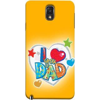 FUSON Designer Back Case Cover for Samsung Galaxy Note 3 :: Samsung Galaxy Note Iii :: Samsung Galaxy Note 3 N9002 :: Samsung Galaxy Note 3 N9000 N9005 (Daddy Father Stars Heart Colourful Lovely Family)