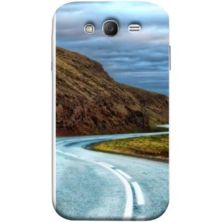 FUSON Designer Back Case Cover for Samsung Galaxy Grand Neo Plus I9060I :: Samsung Galaxy Grand Neo+ (Scenic Road And Beautiful Mountains Highway Nature)