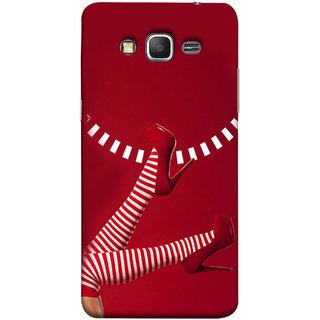 FUSON Designer Back Case Cover for Samsung Galaxy Grand Prime :: Samsung Galaxy Grand Prime Duos :: Samsung Galaxy Grand Prime G530F G530Fz G530Y G530H G530Fz/Ds (High Heel Red And White Socks Beautiful Legs Girl)