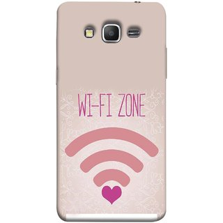 FUSON Designer Back Case Cover for Samsung Galaxy Grand Prime :: Samsung Galaxy Grand Prime Duos :: Samsung Galaxy Grand Prime G530F G530Fz G530Y G530H G530Fz/Ds (Love Wifi Zone Connect With Lovers Couples Hearts)