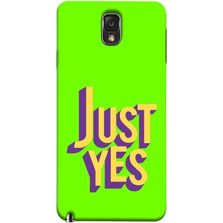 FUSON Designer Back Case Cover for Samsung Galaxy Note 3 :: Samsung Galaxy Note Iii :: Samsung Galaxy Note 3 N9002 :: Samsung Galaxy Note 3 N9000 N9005 (Just Green Say Always To Problems Solve Resolve)