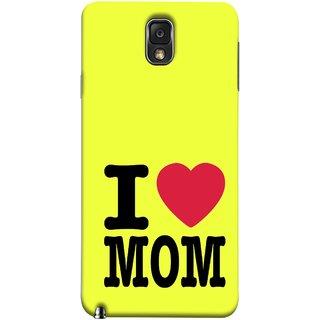 FUSON Designer Back Case Cover for Samsung Galaxy Note 3 :: Samsung Galaxy Note Iii :: Samsung Galaxy Note 3 N9002 :: Samsung Galaxy Note 3 N9000 N9005 (Yellow Background Mother Hearts Pure And True Love)