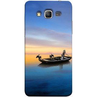 FUSON Designer Back Case Cover for Samsung Galaxy Grand Prime :: Samsung Galaxy Grand Prime Duos :: Samsung Galaxy Grand Prime G530F G530Fz G530Y G530H G530Fz/Ds (Water Sea Sky Beautiful Boat Cruise Horizon )
