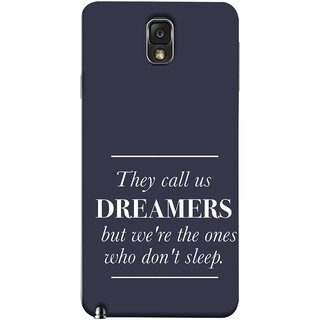 FUSON Designer Back Case Cover for Samsung Galaxy Note 3 :: Samsung Galaxy Note Iii :: Samsung Galaxy Note 3 N9002 :: Samsung Galaxy Note 3 N9000 N9005 (But We Are The Ones Who Don'T Sleep Successful )