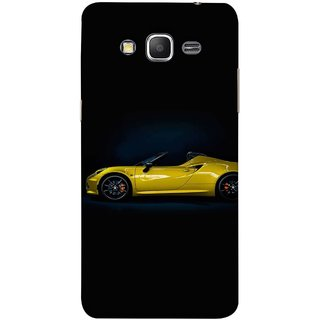 FUSON Designer Back Case Cover for Samsung Galaxy Grand Prime :: Samsung Galaxy Grand Prime Duos :: Samsung Galaxy Grand Prime G530F G530Fz G530Y G530H G530Fz/Ds (Yellow 918 Spyder Top View Expensive Cars)