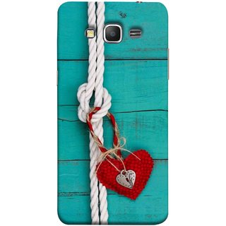 FUSON Designer Back Case Cover for Samsung Galaxy Grand Prime :: Samsung Galaxy Grand Prime Duos :: Samsung Galaxy Grand Prime G530F G530Fz G530Y G530H G530Fz/Ds (Heart Shape Rope Stuffed Toy Text Tied Knot Vintage)