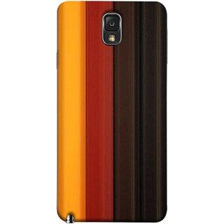 FUSON Designer Back Case Cover for Samsung Galaxy Note 3 :: Samsung Galaxy Note Iii :: Samsung Galaxy Note 3 N9002 :: Samsung Galaxy Note 3 N9000 N9005 (Gliding Striped Fabric Floral Patterns Shining Dark Patterns)
