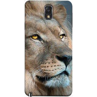 FUSON Designer Back Case Cover for Samsung Galaxy Note 3 :: Samsung Galaxy Note Iii :: Samsung Galaxy Note 3 N9002 :: Samsung Galaxy Note 3 N9000 N9005 (Jungle King Stearing Aslan Painting Oil Art )