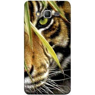 FUSON Designer Back Case Cover for Samsung Galaxy Grand Prime :: Samsung Galaxy Grand Prime Duos :: Samsung Galaxy Grand Prime G530F G530Fz G530Y G530H G530Fz/Ds (Animal Bengal Indian Jungle King Whiskers Grass)