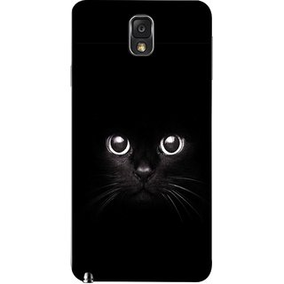 FUSON Designer Back Case Cover for Samsung Galaxy Note 3 :: Samsung Galaxy Note Iii :: Samsung Galaxy Note 3 N9002 :: Samsung Galaxy Note 3 N9000 N9005 (Black Kitty Kitten Closeup Of A Long Haired Black Cats )