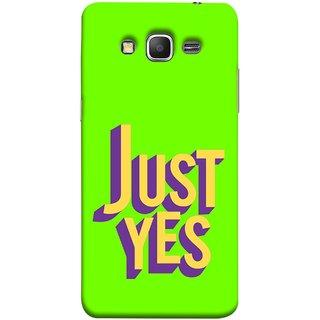 FUSON Designer Back Case Cover for Samsung Galaxy Grand Prime :: Samsung Galaxy Grand Prime Duos :: Samsung Galaxy Grand Prime G530F G530Fz G530Y G530H G530Fz/Ds (Just Green Say Always To Problems Solve Resolve)