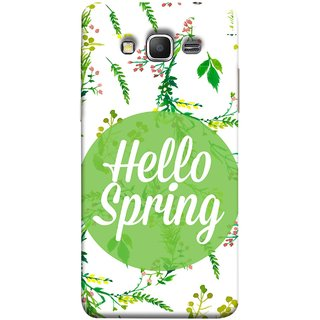 FUSON Designer Back Case Cover for Samsung Galaxy Grand Prime :: Samsung Galaxy Grand Prime Duos :: Samsung Galaxy Grand Prime G530F G530Fz G530Y G530H G530Fz/Ds (Season Banner With Fresh Green Leaves Showering)