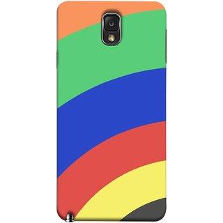 FUSON Designer Back Case Cover for Samsung Galaxy Note 3 :: Samsung Galaxy Note Iii :: Samsung Galaxy Note 3 N9002 :: Samsung Galaxy Note 3 N9000 N9005 ( Large Medium Circles Orange Yellow Red Blue Grey)