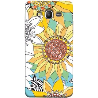 FUSON Designer Back Case Cover for Samsung Galaxy Grand Prime :: Samsung Galaxy Grand Prime Duos :: Samsung Galaxy Grand Prime G530F G530Fz G530Y G530H G530Fz/Ds (Sunflowers Flowers Green Grass Beautiful Painting Canvas)