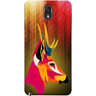 FUSON Designer Back Case Cover for Samsung Galaxy Note 3 :: Samsung Galaxy Note Iii :: Samsung Galaxy Note 3 N9002 :: Samsung Galaxy Note 3 N9000 N9005 (Christmas Deer Origami Merry Abstract Reindeer)