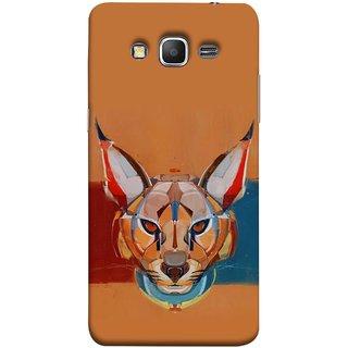 FUSON Designer Back Case Cover for Samsung Galaxy Grand Prime :: Samsung Galaxy Grand Prime Duos :: Samsung Galaxy Grand Prime G530F G530Fz G530Y G530H G530Fz/Ds (Multicolour Cat Monkey King Animal Tree Blue Red)
