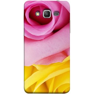 FUSON Designer Back Case Cover for Samsung Galaxy Grand Prime :: Samsung Galaxy Grand Prime Duos :: Samsung Galaxy Grand Prime G530F G530Fz G530Y G530H G530Fz/Ds (Pink Red Baby Yellow Shades Friendship Flowers Roses)