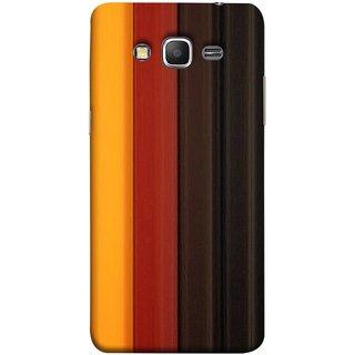 FUSON Designer Back Case Cover for Samsung Galaxy Grand Prime :: Samsung Galaxy Grand Prime Duos :: Samsung Galaxy Grand Prime G530F G530Fz G530Y G530H G530Fz/Ds (Gliding Striped Fabric Floral Patterns Shining Dark Patterns)
