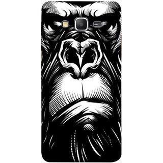 FUSON Designer Back Case Cover for Samsung Galaxy Grand Prime :: Samsung Galaxy Grand Prime Duos :: Samsung Galaxy Grand Prime G530F G530Fz G530Y G530H G530Fz/Ds (Animal Background Open Ears Black Hairs Jungle Nose)