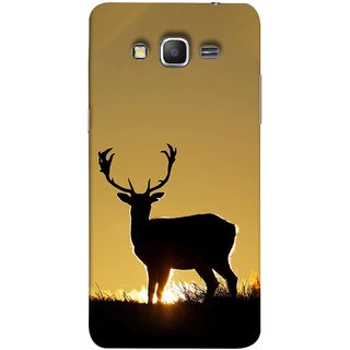 FUSON Designer Back Case Cover for Samsung Galaxy Grand Prime :: Samsung Galaxy Grand Prime Duos :: Samsung Galaxy Grand Prime G530F G530Fz G530Y G530H G530Fz/Ds (Adult Alone Animals Very Big Horns Looking Back)