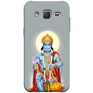 FUSON Designer Back Case Cover for Samsung Galaxy J2 J200G (2015) :: Samsung Galaxy J2 Duos (2015) :: Samsung Galaxy J2 J200F J200Y J200H J200Gu  (Hanuman Gadadhari Bajrangi Vayuputra Lord Chalisa)