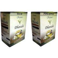 Green Tea 200 Gms Combo (Green Tea W/Tulsi And Green Tea W/Pineapple )