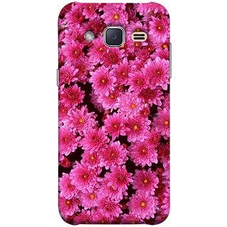 FUSON Designer Back Case Cover for Samsung Galaxy J2 J200G (2015) :: Samsung Galaxy J2 Duos (2015) :: Samsung Galaxy J2 J200F J200Y J200H J200Gu  (Thousands Flowers Magenta Mums Nature Pink)