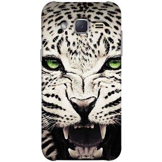 FUSON Designer Back Case Cover for Samsung Galaxy J2 J200G (2015) :: Samsung Galaxy J2 Duos (2015) :: Samsung Galaxy J2 J200F J200Y J200H J200Gu  (Jungle King Stearing Angry Roaring Loud Aslan Panther)