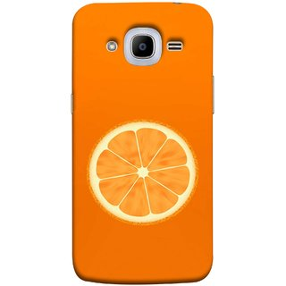 FUSON Designer Back Case Cover for Samsung Galaxy J2 (6) 2016  J210F :: Samsung Galaxy J2 Pro (2016) (Farm Fresh Fruits Lemons Fresh Juicy Orange Slice)