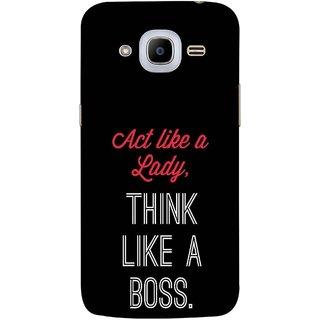 FUSON Designer Back Case Cover for Samsung Galaxy J2 (6) 2016  J210F :: Samsung Galaxy J2 Pro (2016) (Act Lady Woman Mahila Bossing Think )