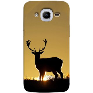 FUSON Designer Back Case Cover for Samsung Galaxy J2 (6) 2016  J210F :: Samsung Galaxy J2 Pro (2016) (Adult Alone Animals Very Big Horns Looking Back)