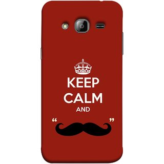 FUSON Designer Back Case Cover for Samsung Galaxy J3 (6) 2016 :: Samsung Galaxy J3 2016 Duos :: Samsung Galaxy J3 2016 J320F J320A J320P J3109 J320M J320Y  (Beautiful Mustache Always Stay Silent Work Resolve)