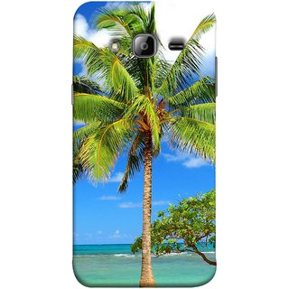 FUSON Designer Back Case Cover for Samsung Galaxy J3 (6) 2016 :: Samsung Galaxy J3 2016 Duos :: Samsung Galaxy J3 2016 J320F J320A J320P J3109 J320M J320Y  (Palmtrees At The Beach Sea Blue Sky New Horizons )