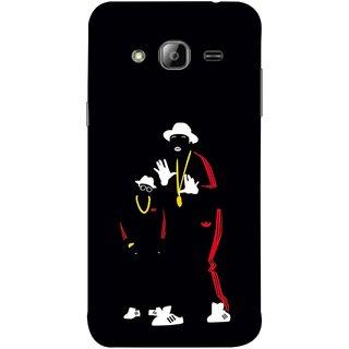 FUSON Designer Back Case Cover for Samsung Galaxy J3 (6) 2016 :: Samsung Galaxy J3 2016 Duos :: Samsung Galaxy J3 2016 J320F J320A J320P J3109 J320M J320Y  (Ultraviolet Light White Shoes Posing Spects Gold )