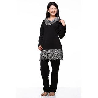 ba37df13eb Dove Winter Night Suit Set With Zebra Print Ns11 Black Prices in ...