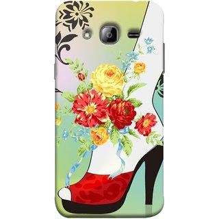 FUSON Designer Back Case Cover for Samsung Galaxy J3 (6) 2016 :: Samsung Galaxy J3 2016 Duos :: Samsung Galaxy J3 2016 J320F J320A J320P J3109 J320M J320Y  (Nice Shoes Design Red Colour Womens Girls Females )