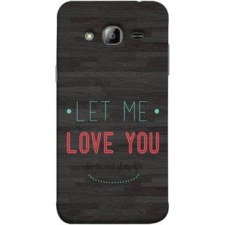 FUSON Designer Back Case Cover for Samsung Galaxy J3 (6) 2016 :: Samsung Galaxy J3 2016 Duos :: Samsung Galaxy J3 2016 J320F J320A J320P J3109 J320M J320Y  (For Rest Of My Life Pink Big Smiling Couples )