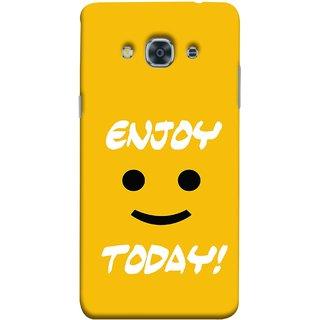 FUSON Designer Back Case Cover for Samsung Galaxy J3 Pro :: Samsung Galaxy J3 (2017) (Big Smiley Smiling Positive Wallpaper Back Cover)