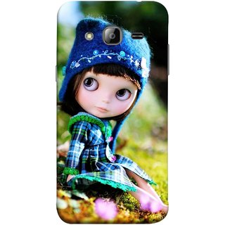 FUSON Designer Back Case Cover for Samsung Galaxy J3 (6) 2016 :: Samsung Galaxy J3 2016 Duos :: Samsung Galaxy J3 2016 J320F J320A J320P J3109 J320M J320Y  (Cute Barbie Doll Images Grass Green Best Back Cover)