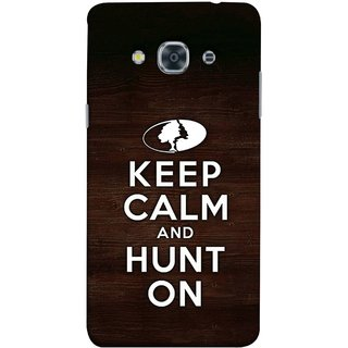 FUSON Designer Back Case Cover for Samsung Galaxy J3 Pro :: Samsung Galaxy J3 (2017) (World Logo Keep Silent And Cool Hunting Always)