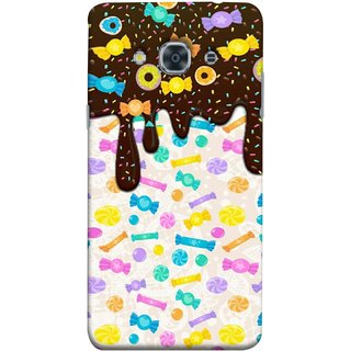 FUSON Designer Back Case Cover for Samsung Galaxy J3 Pro :: Samsung Galaxy J3 (2017) (Candies Candy Chocolate Marshmallo Colourful Child)