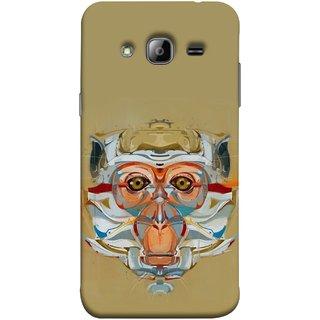 FUSON Designer Back Case Cover for Samsung Galaxy J3 (6) 2016 :: Samsung Galaxy J3 2016 Duos :: Samsung Galaxy J3 2016 J320F J320A J320P J3109 J320M J320Y  (Multicolour Cat Monkey King Animal Tree )