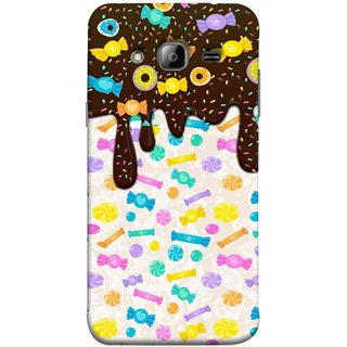 FUSON Designer Back Case Cover for Samsung Galaxy J5 (2015) :: Samsung Galaxy J5 Duos (2015 Model)  :: Samsung Galaxy J5 J500F :: Samsung Galaxy J5 J500Fn J500G J500Y J500M  (Candies Candy Chocolate Marshmallo Colourful Child)