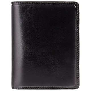Visconti Waldorf Bi-Fold Black & Red Genuine Leather Men's Wallet With RFID