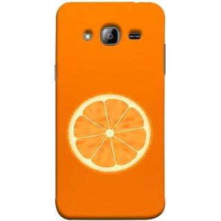 FUSON Designer Back Case Cover for Samsung Galaxy J5 (2015) :: Samsung Galaxy J5 Duos (2015 Model)  :: Samsung Galaxy J5 J500F :: Samsung Galaxy J5 J500Fn J500G J500Y J500M  (Farm Fresh Fruits Lemons Fresh Juicy Orange Slice)