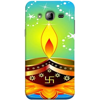 FUSON Designer Back Case Cover for Samsung Galaxy J5 (2015) :: Samsung Galaxy J5 Duos (2015 Model)  :: Samsung Galaxy J5 J500F :: Samsung Galaxy J5 J500Fn J500G J500Y J500M  (Wallpaper Vector Beautiful Vector Diwali Diya)