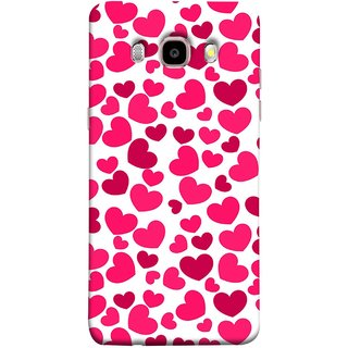 FUSON Designer Back Case Cover for Samsung Galaxy J5 (6) 2016 :: Samsung Galaxy J5 2016 J510F :: Samsung Galaxy J5 2016 J510Fn J510G J510Y J510M :: Samsung Galaxy J5 Duos 2016 (Abstract Love Heart Background Lovers Valentine)