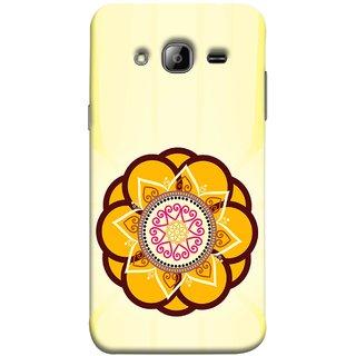 FUSON Designer Back Case Cover for Samsung Galaxy J7 J700F (2015) :: Samsung Galaxy J7 Duos (Old Model) :: Samsung Galaxy J7 J700M J700H  (Best Rangoli Patterns Treditional Photo Wallpapers )