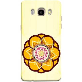 FUSON Designer Back Case Cover for Samsung Galaxy J5 (6) 2016 :: Samsung Galaxy J5 2016 J510F :: Samsung Galaxy J5 2016 J510Fn J510G J510Y J510M :: Samsung Galaxy J5 Duos 2016 (Best Rangoli Patterns Treditional Photo Wallpapers )