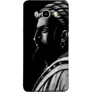 FUSON Designer Back Case Cover for Samsung Galaxy J7 (6) 2016 :: Samsung Galaxy J7 2016 Duos :: Samsung Galaxy J7 2016 J710F J710Fn J710M J710H  (Chatrapati Shivaji Maharaj Sideview Jiretop With Beard)
